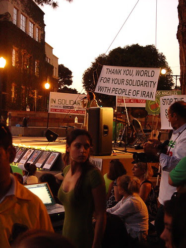 United for Iran - UCLA- July 25, 2009 - Crowd with Sussan Deyshim Onstage