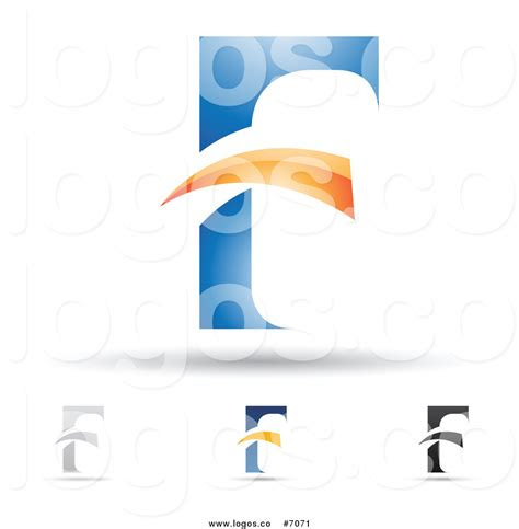 royalty  clip art vector logos  abstract letter