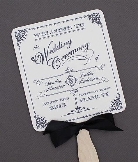 DIY Ornate Vintage Paddle Fan #wedding program template