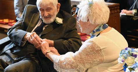Woman, 95, marries 93 year old toyboy 66 years after she