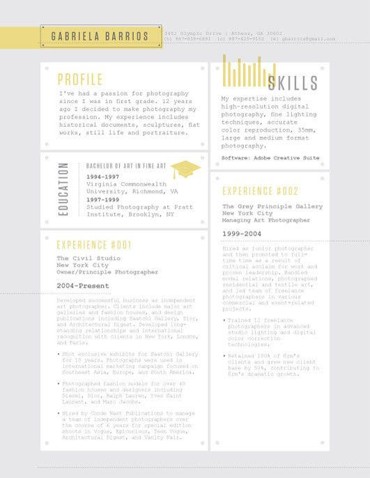 Example Resume: Resume Templates Like Loft Resumes