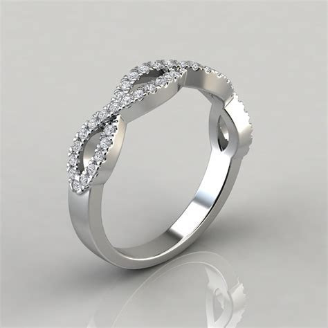 0.35Ct Infinity Design Wedding Band Ring   Forever Moissanite