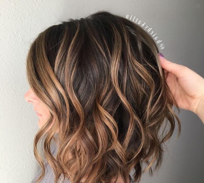 Gwoweninmou Braune Haare Blonde Strähnen