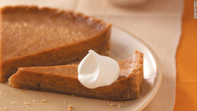 Sweet potato pie, commonly eaten on Thanksgiving, can bring about a nostalgic experience.