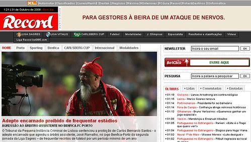 Adepto do Benfica Condenado
