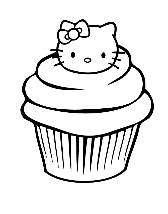 Birthday cupcake coloring pages download and print for free