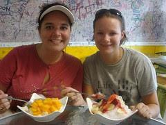 mango and strawberry ice