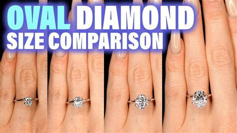 Oval Shaped Diamond Size Comparison on Hand Finger