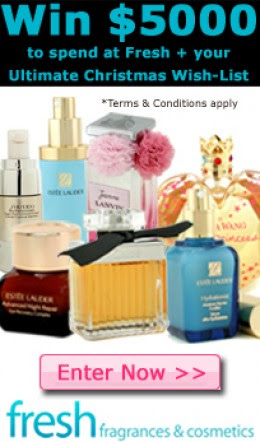 Win $5000 Plus Your Ultimate Christmas Wish List with Fresh Fragrances