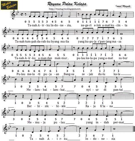 angka lagu tanah airku bing