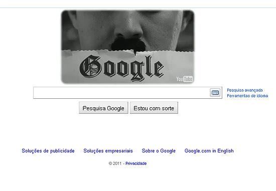 Página principal de buscas do Google celebra aniversário do ator Charlie Chaplin nesta sexta-feira
