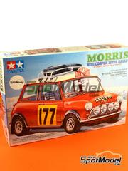 Tamiya: Maqueta de coche escala 1/24 - Mini Cooper 1275S Rally Mk I Nº 177 - Rally de Montecarlo 1967 - maqueta de plástico