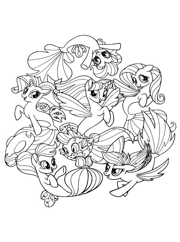 My Little Pony Der Film Ausmalbilder Animaatjes De