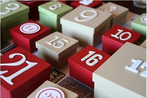 Calendario de Adviento 2011 - Empieza el Calendario ( preparando regalitos)
