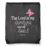Breast Cancer Awareness Bible Verse Cinch Bag