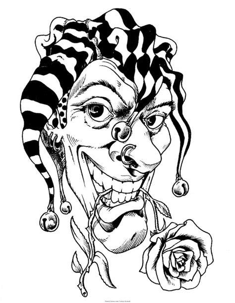 clown girl drawing getdrawings