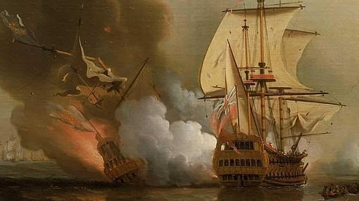 El hundimiento del San José, por Samuel Scott