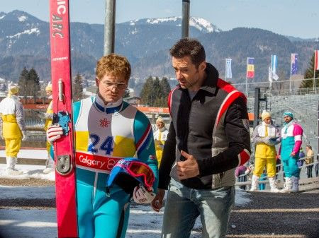 Hugh Jackman Taron Egerton Eddie the Eagle Movie