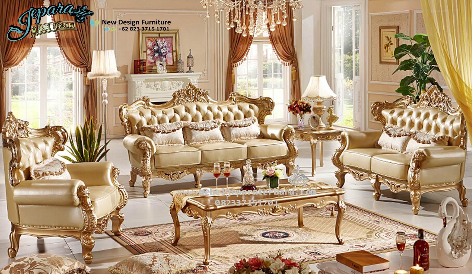 Sofa Ruang Keluarga Mewah Terbaru SST 072 Sofa Ruang Keluarga Sofa