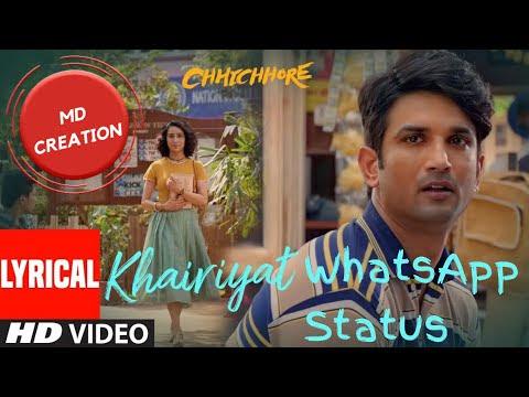 Khairath || WhatsApp Status || Sushant Singh Rajput || Lyrics ||💜By MD C...