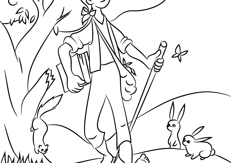 Beautiful Johnny Appleseed Coloring Pages Printables   Top ...