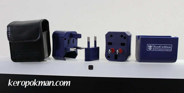 Travel plugs for use in the Royal Caribbean Cruise