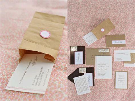 Kraft Paper Bag Wedding Invitations   Elizabeth Anne