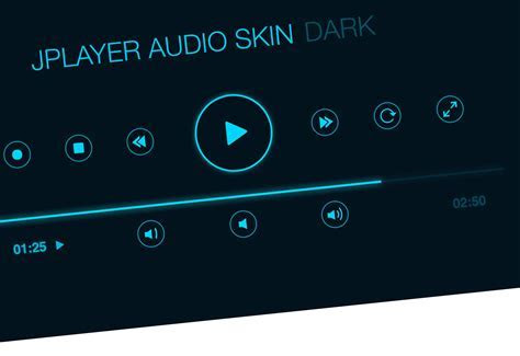 Audio Player User Interface PSD HiDP ~ Web Elements on