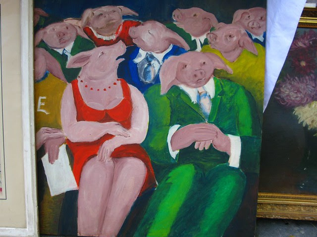 Pigs at the opera