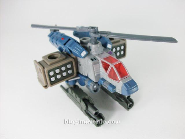 Transformers Vortex Universe Scout - modo alterno con armas