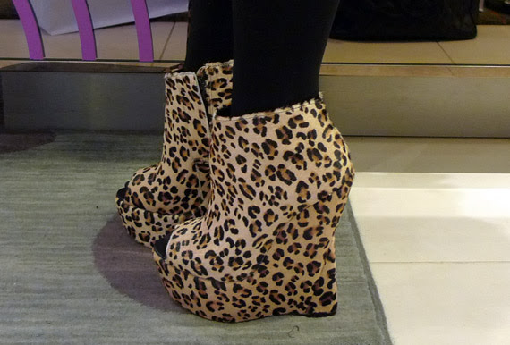 Ashish for Topshop Leopard Wedge