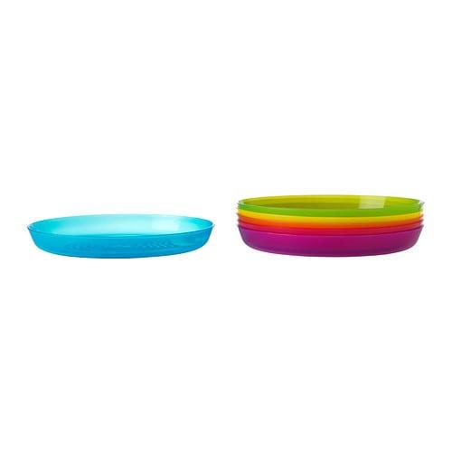 KALAS Plato IKEA Ideal para usar a diario o en una fiesta. Es de plástico duradero apto para el lavavajillas y el microondas.