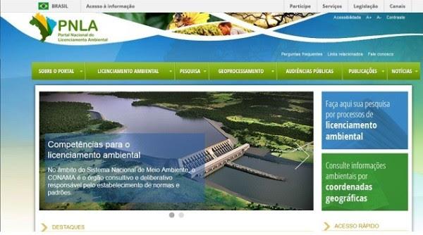 Portal MMA Novo portal unifica informações online sobre licenças ambientais