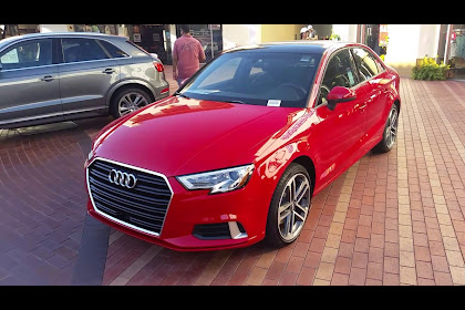 Audi A3 Sedan Red Colour