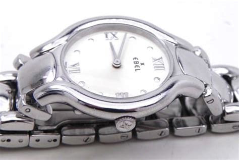 ladies ebel beluga ss white dial quartz  bright
