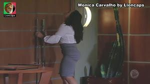 Monica Carvalho sensual na novela Caminhos do Caoração
