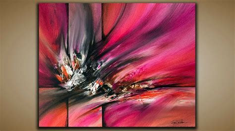 abstract painting demo  abstract art palette knife