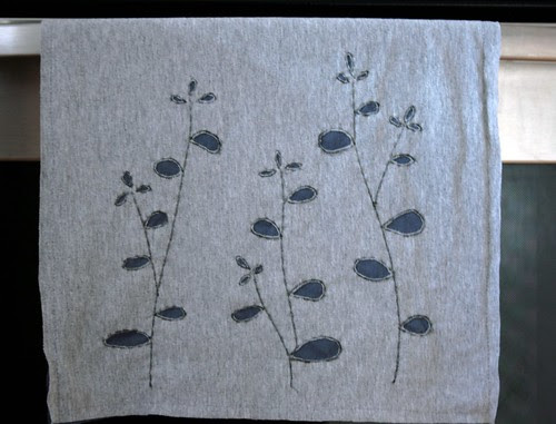 upcycled t-shirt dish towel