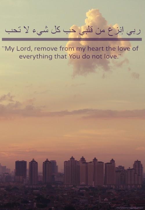Love Quote Beautiful Sky God City Muslim Heart Clouds Islam