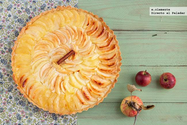 tarta de manzana con clavo y canela