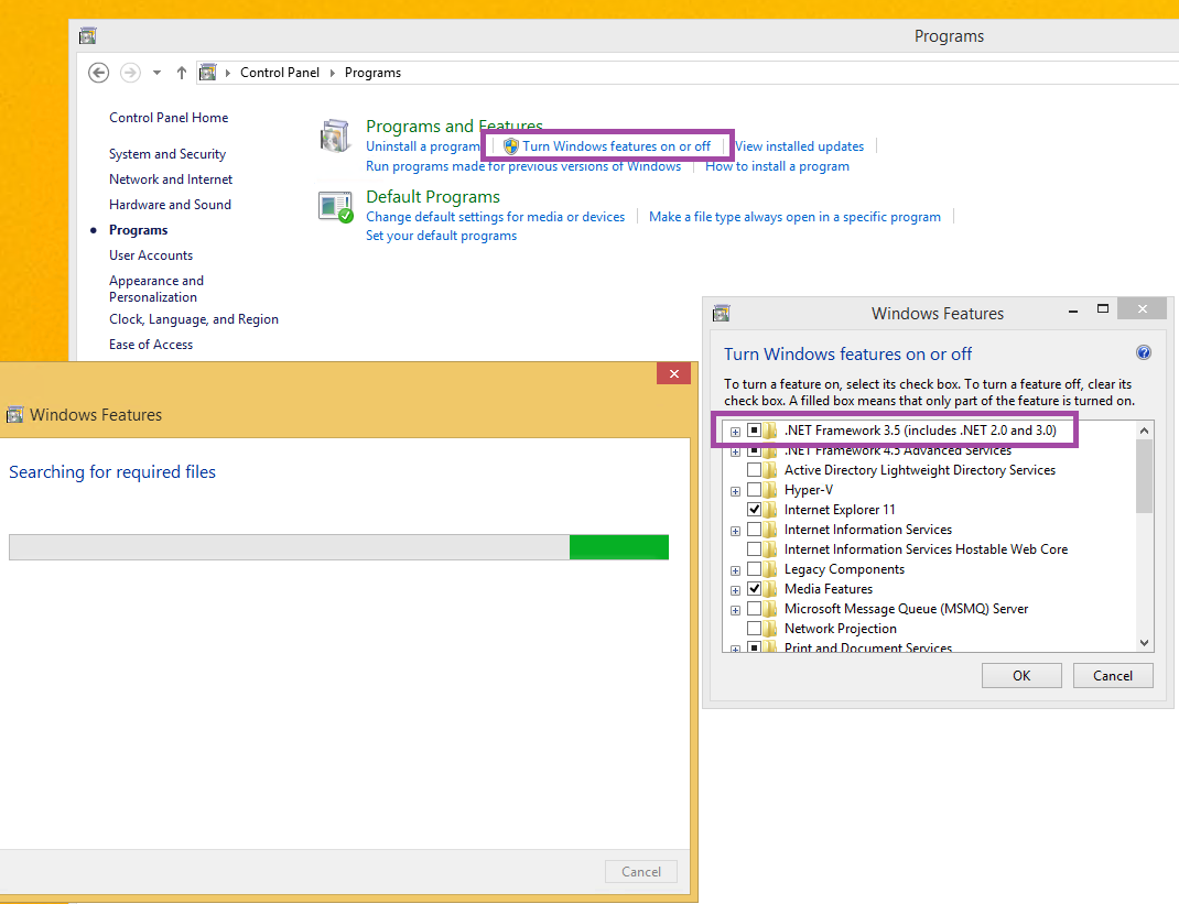 How to Fix: 0x800F0906 and 0x800F081F Error Messages while installing .NET Framework 3.5 in ...