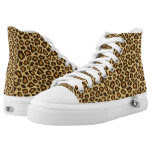 Yellow & Tan Leopard Animal Patterns Printed Shoes