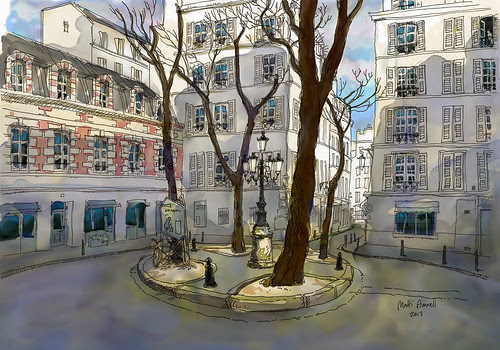 place de Furstenberg, Paris by Brin d'Acier