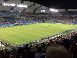 Japão e Grécia jogam na Arena das Dunas, em Natal (Foto: Cassius Andrey/G1)