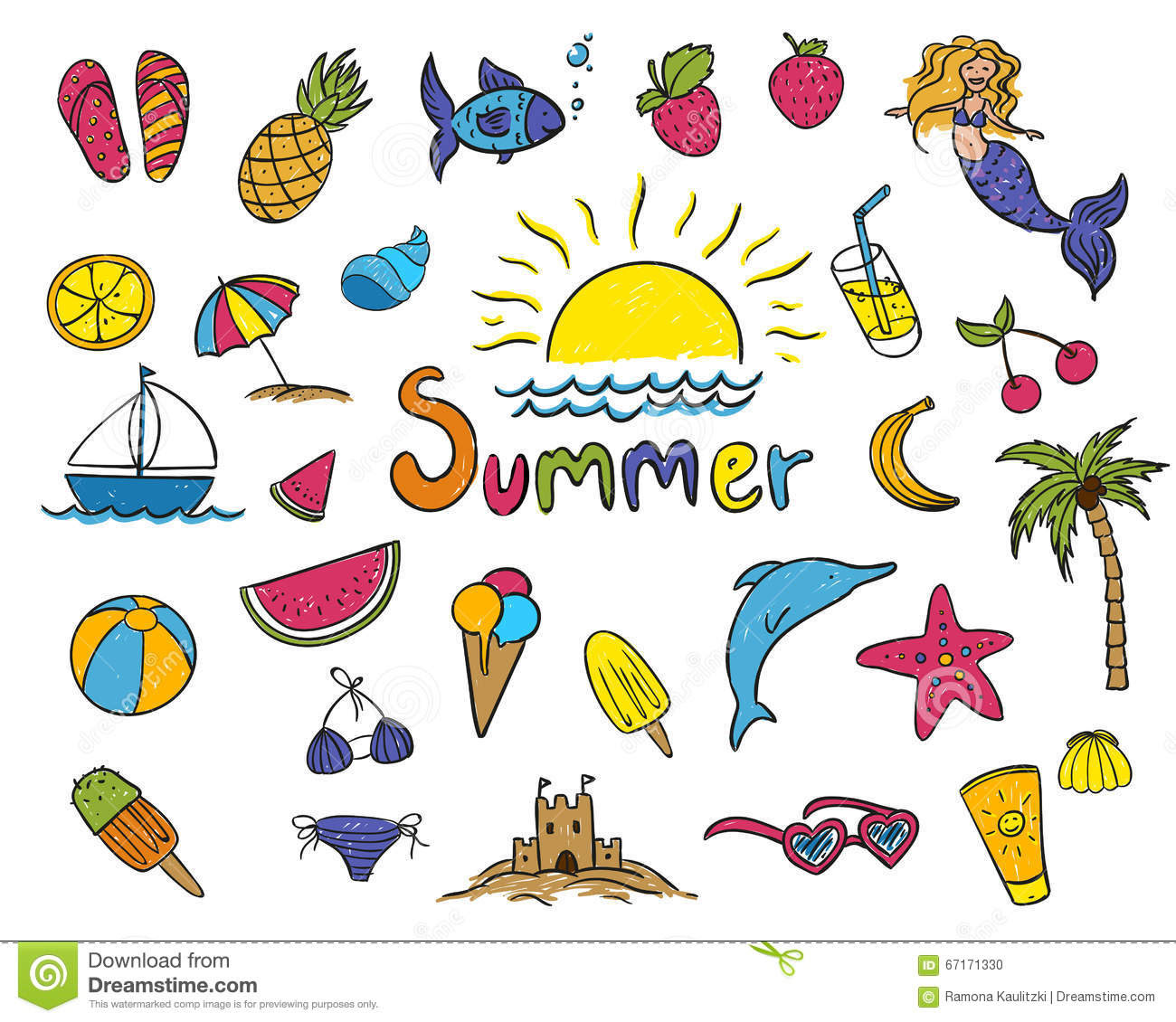 summer drawing for kids 56