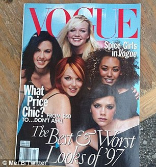 Memories: Mel also tweeted images of the girls' Rolling Stone and Vogue covers