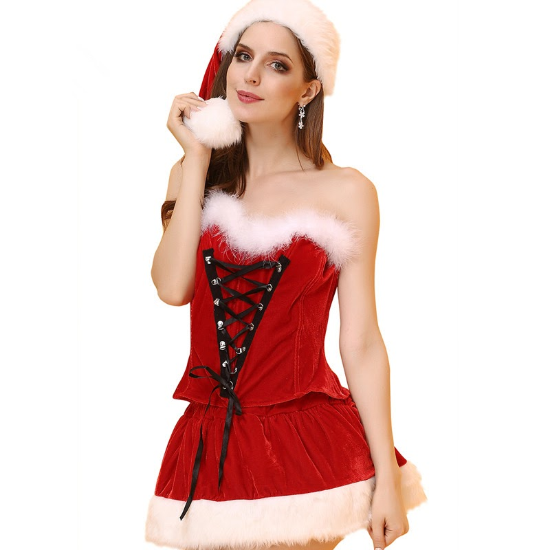TOP !!  New Sexy Lingerie Women Chemise Lingerie Sexy Hot Erotic Sexy Christmas Cosplay Costumes Halloween