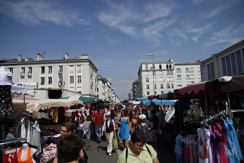 Sunday flea market in Brest