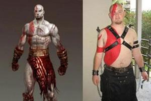 Cosplay de Kratos (God of War) (Foto: Reprodução)