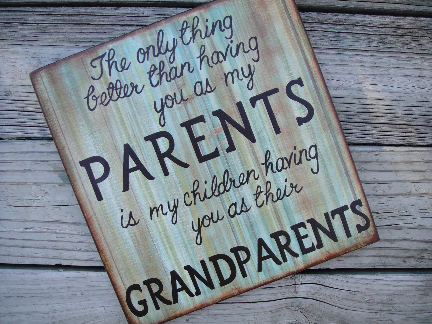 Distressed Wood PARENTS/ GRANDPARENTS Quote Wall by DoodlesinBloom
